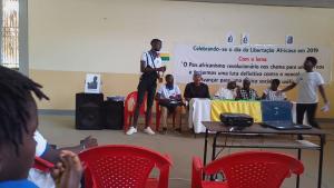 Youth Comrade addressing Seminar