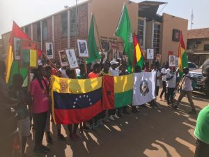 Standing for Africa and Venezuela