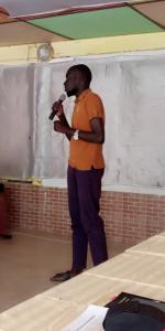 Presenter at ALD Senegal programme