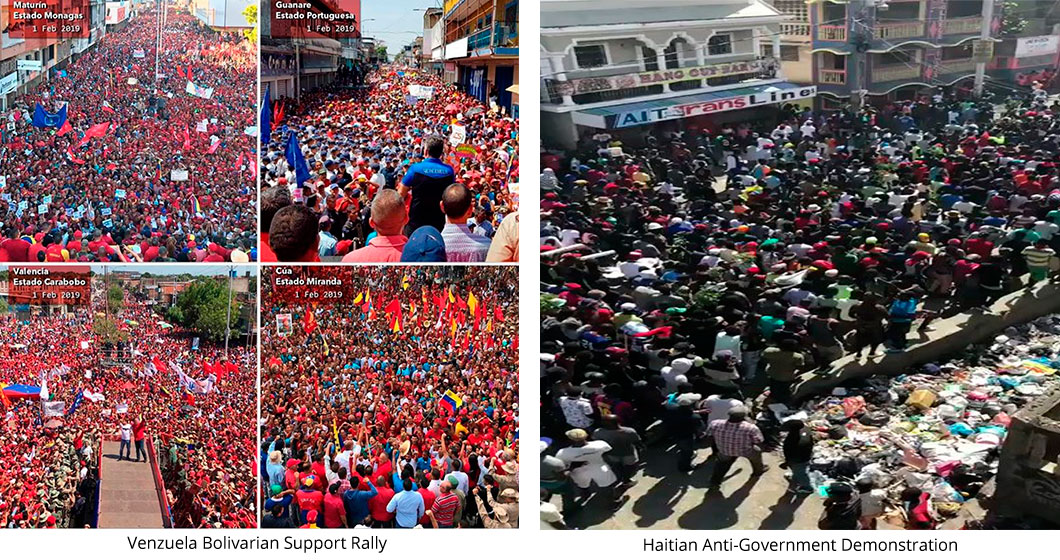 Thousands participate in Venzuelan Bolivarian Support Rally, Feb 1 and Haitian Anti-Government Demonstration, Feb. 7