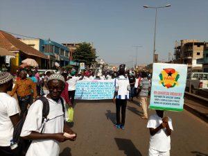 ALD March in Bissau, Guinea-Bissau