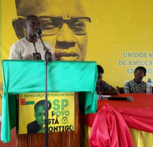 Comrade presenting for ALD Guinea-Bissau @ PAIGC National HQ
