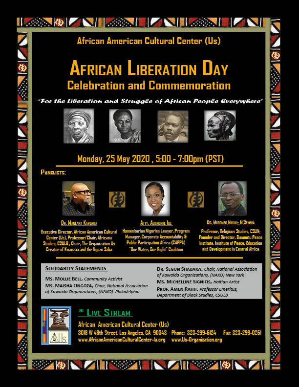 ALD African American Cultural Center (Us) Event Flyer