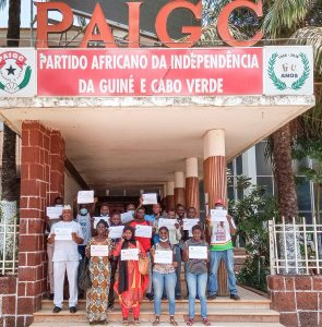 Guinea Bissau in front of PAIGC National Headquarters with ALD Theme 2021