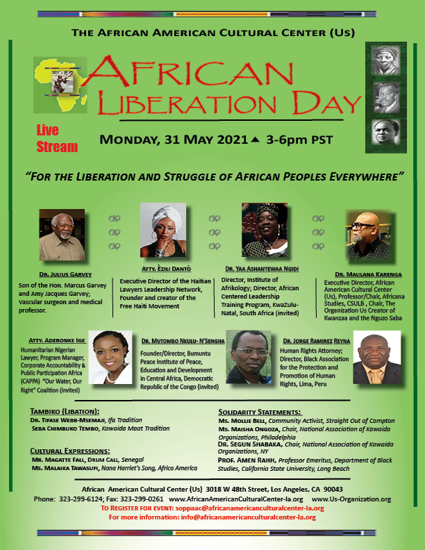African Liberation Day May 31 2021 African American Cultural Center